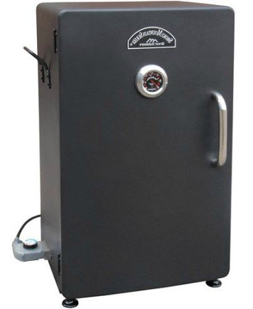 By-Outdoor-Home-Design-Electric-Smoker-Grill-26-H-with-3-Adjustable-Cooking-Grates-Color-Black-0