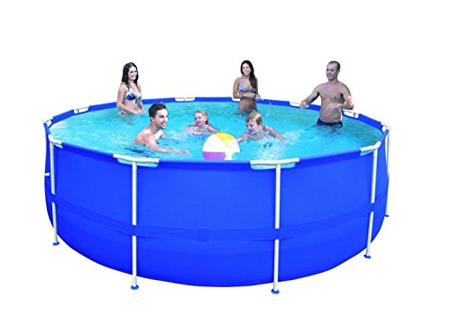 By-PoolCentral-15-x-48-Round-Blue-Steel-Frame-Above-Ground-Swimming-Pool-Set-0