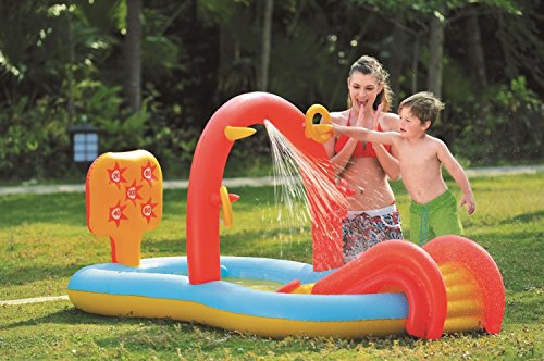 By-PoolCentral-885-Inflatable-Childrens-Interactive-Water-Play-Center-with-Slide-0
