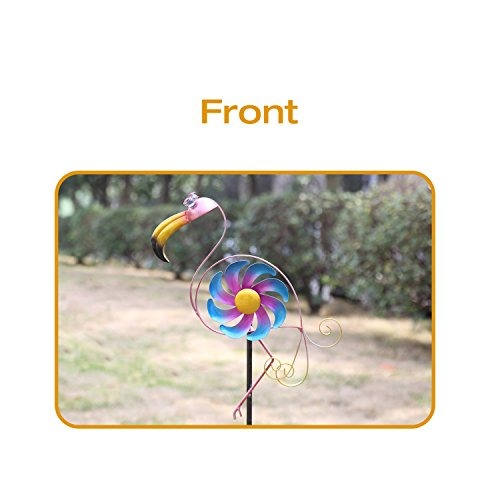 CEDAR-HOME-Wind-Spinner-Sculpture-Garden-Stake-Outdoor-Cute-Metal-Stick-Art-Ornament-Figurine-Decor-for-Lawn-Yard-Patio-2-set-0-1