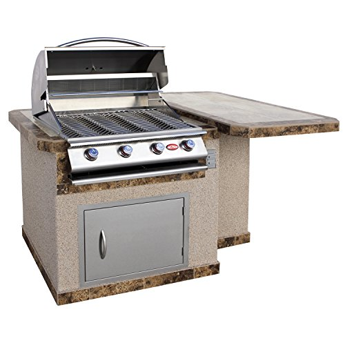 Cal-Flame-LBK-401R-A-Stucco-Grill-Island-with-4-Burner-Stainless-Steel-Propane-Gas-Grill-0