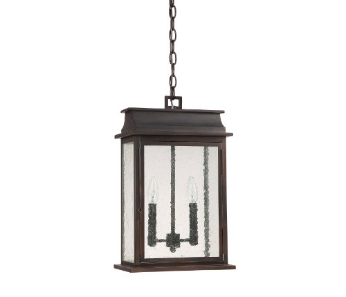 Capital-Lighting-9666OB-Bolton-2-Light-Exterior-Hanging-Pendant-Old-Bronze-Finish-with-Seedy-Glass-0