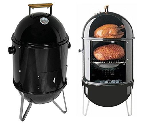 Charcoal-Smoke-Grill-Meat-Chicken-Hamsausage-Cooking-BBQ-Pation-Smooker-Cooker-Item210042-0