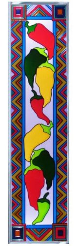 Chili-Peppers-Vertical-Art-Glass-Panel-Wall-Hanging-Suncatcher-42-x-10-0