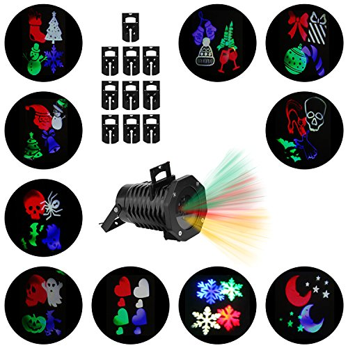 Christmas-Lights-Projector–Multicolor-Rotating-Led-Christmas-Shower-lights-10PCS-Pattern-Waterproof-Lens-Christmas-Projector-Lights-Outdoor-Indoor-for-Celebration-Garden-Decorations-and-more-0