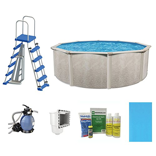 Cornelius-Pools-Phoenix-15-x-52-Frame-Above-Ground-Pool-Kit-with-Pump-Ladder-0