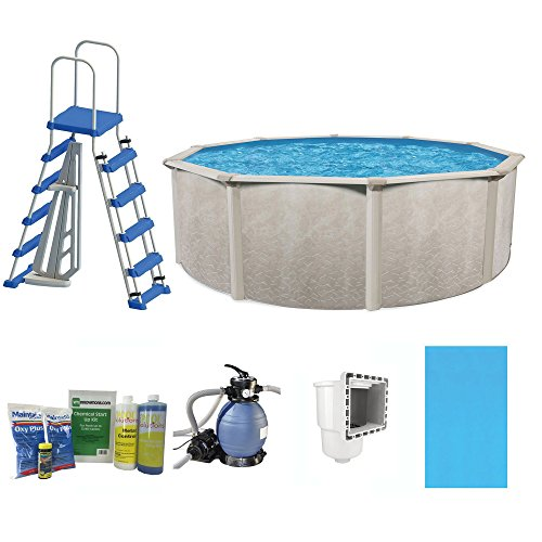 Cornelius-Pools-Phoenix-24-x-52-Frame-Above-Ground-Pool-Kit-with-Pump-Ladder-0