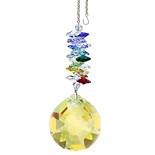 CrystalPlace-Crystal-Ornament-45-inch-Suncatcher-Light-Topaz-Faceted-Ball-Prism-Rainbow-Maker-Crystal-Cascade-Made-with-Swarovski-Crystals-0