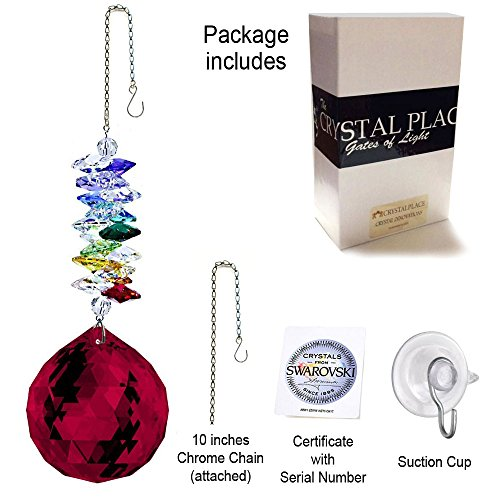 CrystalPlace-Crystal-Ornament-45-inch-Swarovski-Prisms-Red-Faceted-Ball-Prism-Crystal-Sun-Catcher-0-1