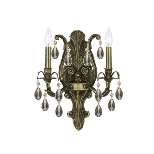 Crystorama-5563-AB-GTS-Crystal-Accents-Two-Light-Wall-Sconce-from-Dawson-collection-in-Brass-Antiquefinish-750-inches-0