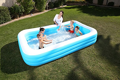 DMGF-Giant-Inflatable-Pool-Swim-Center-Family-Rectangular-Pool-With-Electric-Air-Pump-Thicken-Paddling-Pool-For-Adult-Kid-Children-30518356-Blue-0-0