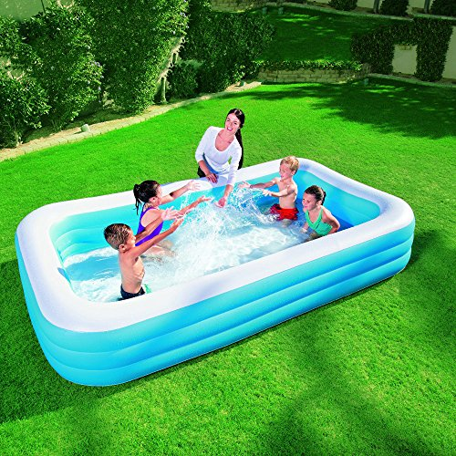 DMGF-Giant-Inflatable-Pool-Swim-Center-Family-Rectangular-Pool-With-Electric-Air-Pump-Thicken-Paddling-Pool-For-Adult-Kid-Children-30518356-Blue-0-2