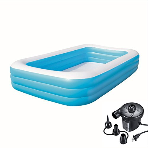 DMGF-Giant-Inflatable-Pool-Swim-Center-Family-Rectangular-Pool-With-Electric-Air-Pump-Thicken-Paddling-Pool-For-Adult-Kid-Children-30518356-Blue-0
