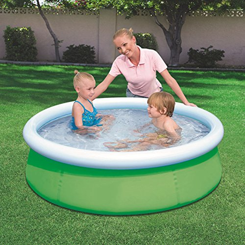 DMGF-Inflatable-Easy-Set-Pool-Family-Play-Pool-Summer-Water-Fun-Lounge-Padding-Pool-Above-Ground-Swim-Center-With-Electric-Air-Pump-60X15inGreen1-0-0