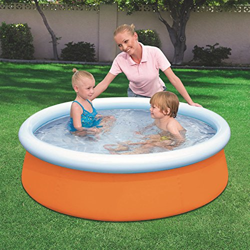 DMGF-Inflatable-Easy-Set-Pool-Family-Play-Pool-Summer-Water-Fun-Lounge-Padding-Pool-Above-Ground-Swim-Center-With-Electric-Air-Pump-60X15inOrange1-0-0