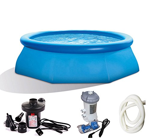 DMGF-Inflatable-Pool-Family-Paddling-Pool-Set-With-Electric-Air-Pump-Pool-Cover-Cloth-Filter-Pump-Thicken-SPA-For-Adult-Kid-Children-2420Liter-Blue-0