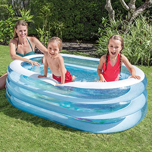 DMGF-Inflatable-Pool-For-Kids-Family-Swim-Center-Rectangular-Thicken-Pool-Summer-Baby-Children-Paddling-Pool-163X107x46cm-For-Ages-3-0-0