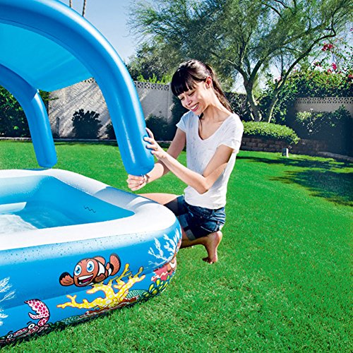 DMGF-Inflatable-Pool-Kids-Swim-Center-Sun-Shade-Pool-With-Electric-Air-Pump-Garden-Family-Paddling-Pool-Summer-Children-Play-Ball-Pool-58X58x48in-0-1
