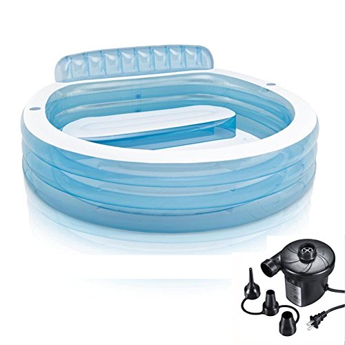 DMGF-Inflatable-Pool-Swim-Center-Family-Lounge-Round-Pool-With-Electric-Air-Pump-Backrest-Cushion-Thicken-Adult-Kid-Children-Paddling-Pool-22421676Cm-For-Ages-4-0