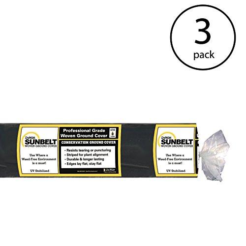 DeWitt-SBLT4300-Sunbelt-Ground-Cover-Weed-Barrier-4-Feet-Width-by-300-Feet-Length-Pack-of-3-0