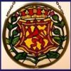 Decorative-Hand-Painted-Stained-Glass-Window-Sun-CatcherRoundel-in-a-Scottish-Lion-and-Thistle-Design-0