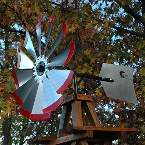 Decorative-Red-Wood-Backyard-Windmill-10-ft-0-0