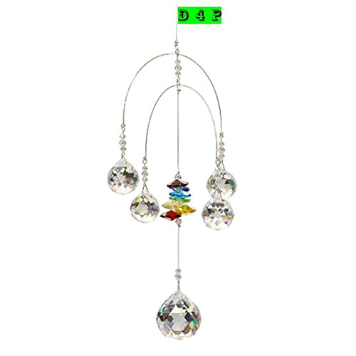 Discount4product-Branded-Double-Rainbow-Mobile-Chakra-5-Crystal-Ball-Attached-Rainbow-Maker-Hanging-Crystal-Suncatcher-Ornament-Outdoor-Dcor-Car-Decoration-Porch-Decor-0