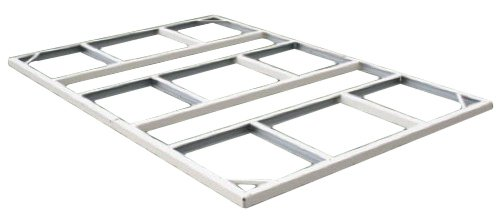 DuraMax-Model-50214-10×8-Colossus-Metal-Shed-with-foundation-green-trim-0-0