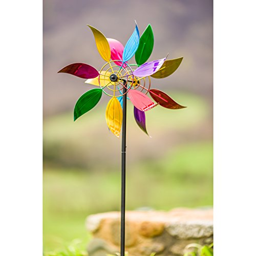 Evergreen-Floral-Wind-Outdoor-Safe-Kinetic-Wind-Spinning-Topper-Pole-Sold-Separately-0-1