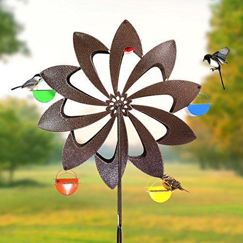 Exhart-Ferris-Feeder-Bird-Feeder-Wheel-Statue-BackyardOutdoor-Garden-0-0