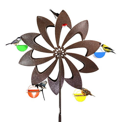 Exhart-Ferris-Feeder-Bird-Feeder-Wheel-Statue-BackyardOutdoor-Garden-0