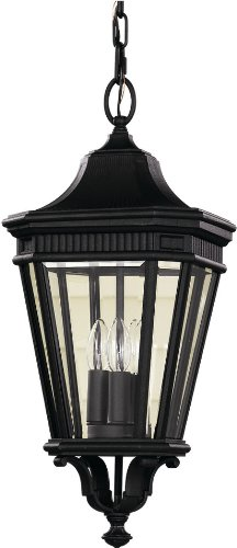Feiss-OL5411BK-LED-Cotswold-Lane-LED-Outdoor-Lighting-Pendant-Lantern-Black-1-Light-10-W-x-22-H-0