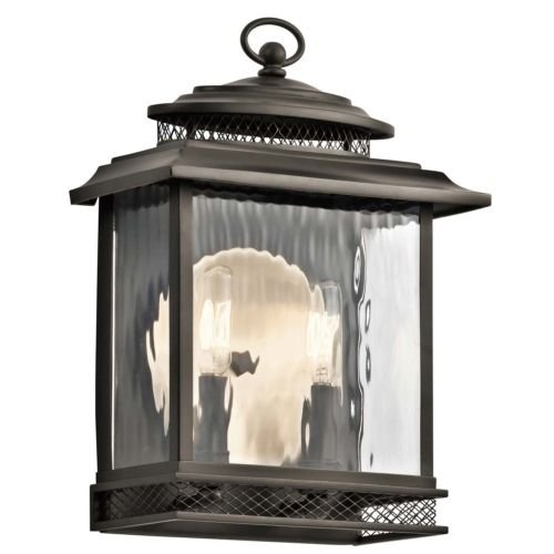 GHP-Home-Lighting-2-Light-Exterior-Wall-Fixture-in-Old-Bronze-and-Clear-Water-Glass-0