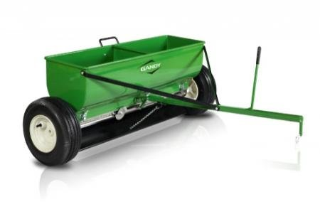 Gandy-Towable-Drop-Spreader-with-Steel-Hopper-and-Pneumatic-Tires-120-Pound-Capacity-Green-0