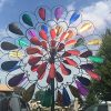 Garden-Art-Metal-Spinner-Bursting-Bloom-Multi-color-0-0