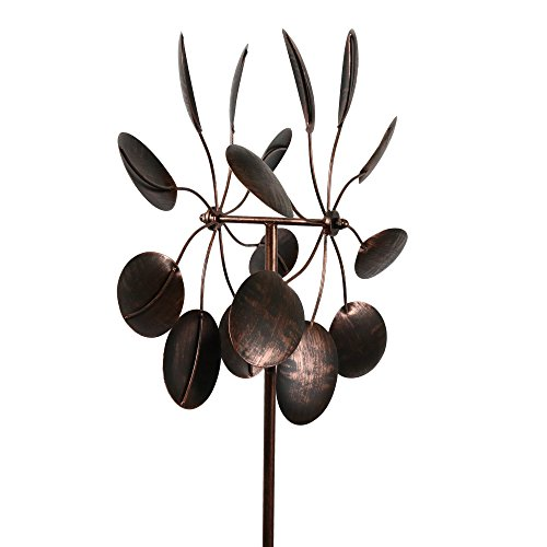 Garden-Kinetic-Wind-Spinner-Bronze-Leaves-0-0