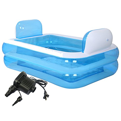Giant-Folding-Inflatable-Bath-Tub-Adult-SPA-Free-Standing-Comfortable-BathtubThicken-Home-Massage-Tub-Soaking-with-Electric-Air-Pump-Double-Backrest-200-Liter-0