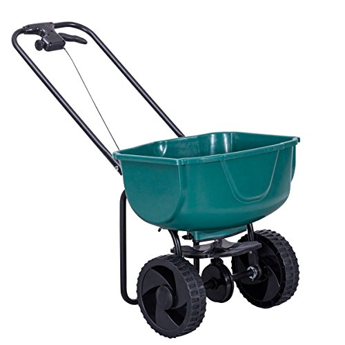 Globe-House-Products-GHP-44-Lbs-Capacity-Green-Steel-Plastic-Garden-Broadcast-Spreader-Fertilizer-Cart-0