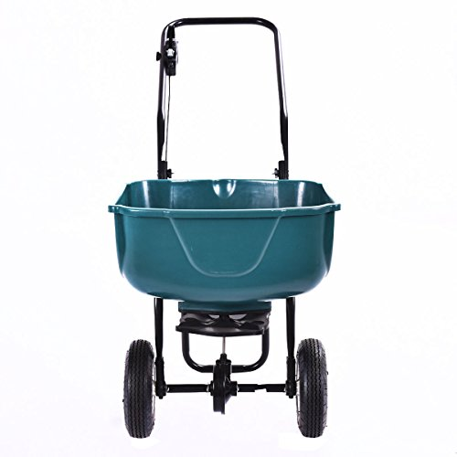 Globe-House-Products-GHP-65-Lbs-Hopper-Weight-Capacity-Pre-Calibrated-Garden-Spreader-Fertilizer-Cart-0-0