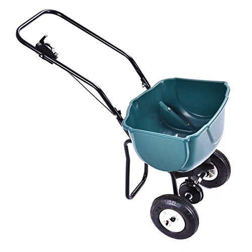 Globe-House-Products-GHP-65-Lbs-Hopper-Weight-Capacity-Pre-Calibrated-Garden-Spreader-Fertilizer-Cart-0