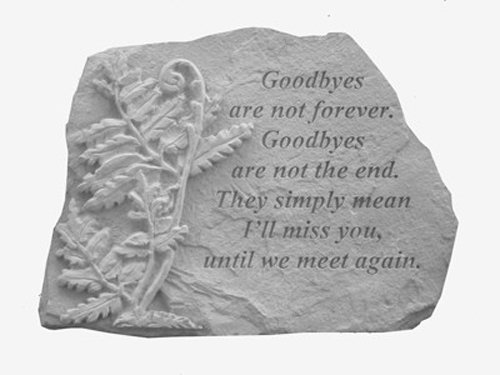 Goodbyes-Are-NotwFern-Memorial-Stone-0