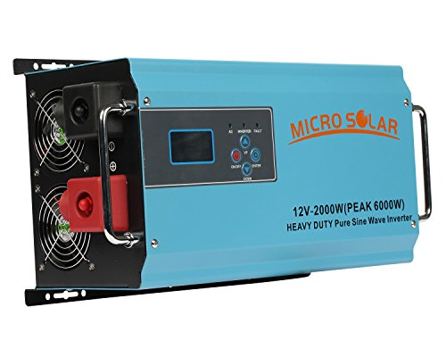 HEAVY-DUTY-35-lb-12V-2000W-PEAK-6000W-Pure-Sine-Wave-Inverter-MicroSolar-With-Battery-Charger-Cable-Support-Microwave-Air-Conditioner-etc-0-0