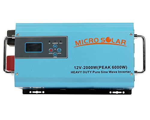 HEAVY-DUTY-35-lb-12V-2000W-PEAK-6000W-Pure-Sine-Wave-Inverter-MicroSolar-With-Battery-Charger-Cable-Support-Microwave-Air-Conditioner-etc-0
