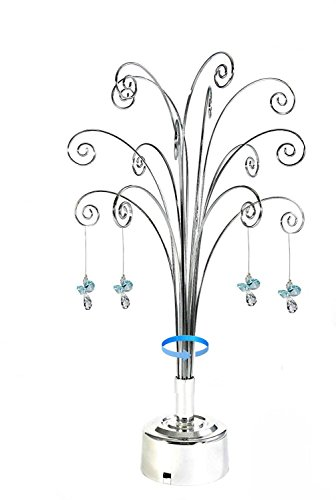 HOHIYA-Hanging-Crystal-Suncatchers-Ball-Garden-Guardian-Angel-Butterfly-Prisms-Pendant-Drop-Rainbow-Maker-Feng-Shui-Party-Home-Decoraions-Rotating-Display-Hanger-Hook-Stand-1675inchSilver-0
