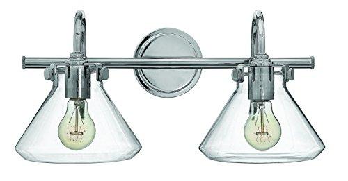 Hinkley-Lighting-50026CM-Congress-9-14H-2-Light-Bath-Lighting-with-Clear-Glass-0