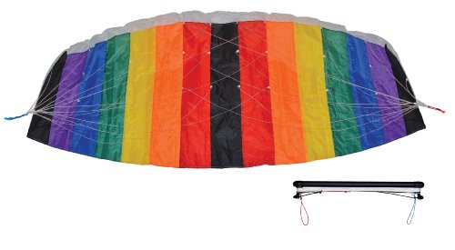 In-the-Breeze-Black-and-Rainbow-Power-Kite-2-Meter-0