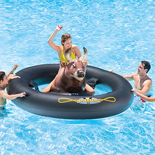 Intex-14-Feet-x-42-Inches-Prism-Frame-Swimming-Pool-Set-Inflatabull-Bull-Riding-Float-0-2