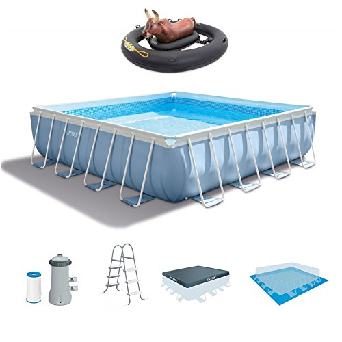 Intex-14-Feet-x-42-Inches-Prism-Frame-Swimming-Pool-Set-Inflatabull-Bull-Riding-Float-0