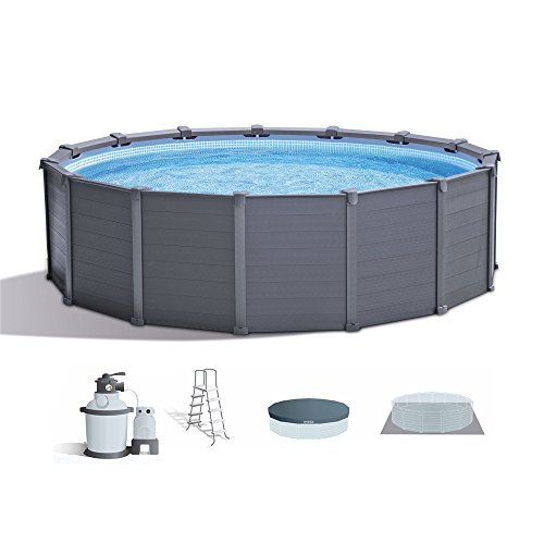 Intex-15-8-x-49-Graphite-Gray-Panel-Above-Ground-Swimming-Pool-Set-0