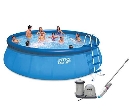 Intex-18-x-48-Easy-Set-Pool-with-Pump-Kokido-Telsa-10-Handheld-Vacuum-0